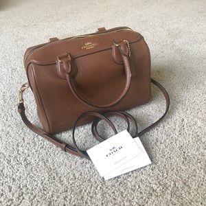 COACH Brown Leather Mini Satchel / Crossbody Bag